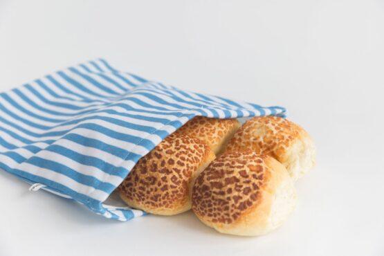 4myearth bread bag, denim stripe