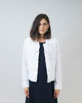Naturals by O&J Linen Jacket White
